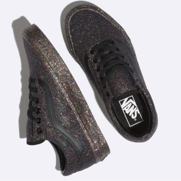 Vans Shoes | Vans Rainbow Glitter Shoes